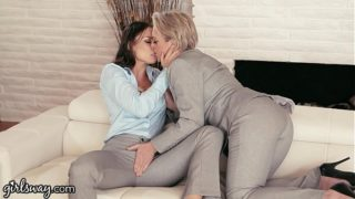 GIRLSWAY Mature Lesbian Gifts Aidra Fox a Power Suit